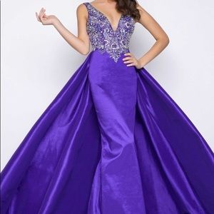 Mac Duggal purple gown